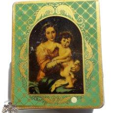 Cajas y cajitas metálicas: ANTIGUA CAJA METÁLICA DE HILOS Y SEDAS PARA COSER DE RAMÓN JULIA CASA FUNDADA EN 1847. Lote 95337271