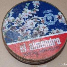 Cajas y cajitas metálicas: CAJA TORTAS IMPERIALES EL ALMENDRO. Lote 95636827