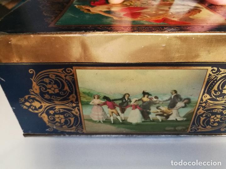 Cajas y cajitas metálicas: ANTIGUA CAJA HOJALATA - LA FORTUNA - FABRICA DE CHOCOLATES GALLETAS BOMBONES Y CARAMELOS DE MADRID - Foto 6 - 96035331