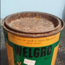 Cajas y cajitas metálicas: ANTIGUO BOTE METÁLICO DE FERTILIZANTE THE MIRACLE FERTILIZER WELGRO FRUIT. Lote 95919543