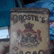 Cajas y cajitas metálicas: ANTIGUA CAJA METALICA DROSTE CACAO HARLEM HOLLAND. Lote 96373231