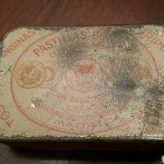 Cajas y cajitas metálicas: CAJITA DE LATA (HOJALATA) DE LAS PRESTIGIOSAS PASTILLAS BONALD. NUEVO ENVASE. AÑOS 30 DEL S. XX.. Lote 96396964