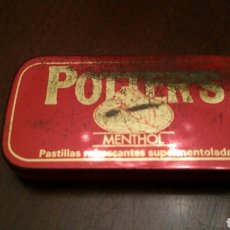 Cajas y cajitas metálicas: CAJA DE LATA (HOJALATA) DE PASTILLAS DE MENTOL POTTER'S. REFRESCANTES Y SUPERMENTOLADAS.. Lote 96397442