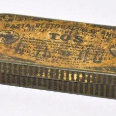 Cajas y cajitas metálicas: CAJA DE PASTA PECTORAL DEL DR ANDREU. Lote 96557535