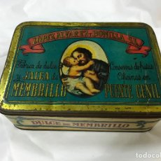 Boîtes et petites boîtes métalliques: CAJA DE LATA LOPEZ ALVAREZ Y BONILLA, DULCE DE MEMBRILLO, PUENTE GENIL - CORDOBA . Lote 96620779