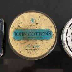 Cajas y cajitas metálicas: LOTE 3 CAJAS ANTIGUAS. JOHN COTTONS - THE BALKAN SOBRANIE - DUCADOS - TABACO PARA PIPA - MIXTURE. Lote 96745631