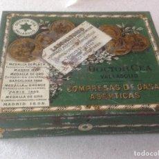 Cajas y cajitas metálicas: CAJA CAJITA METALICA - COMPRESAS GASA DOCTOR CEA , VALLADOLID - . Lote 96873743