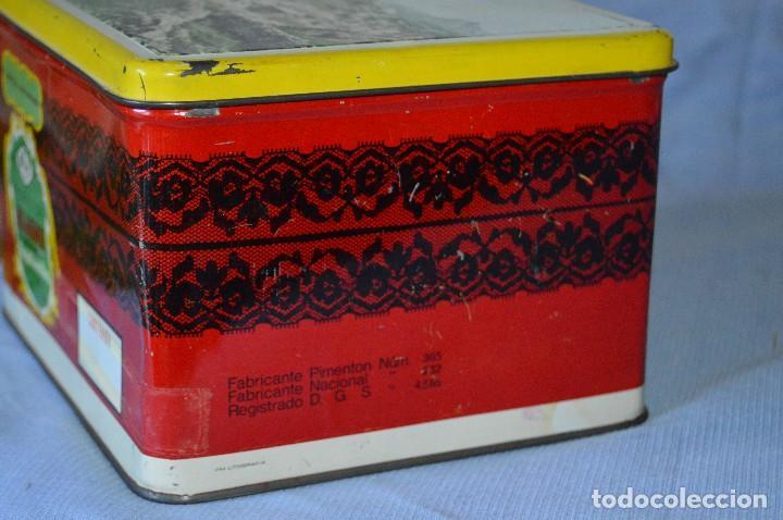 Cajas y cajitas metálicas: Antigua caja / lata hojalata - Productos HIJANO Especias e infusiones - Antequera (MÁLAGA) - Foto 2 - 97232555