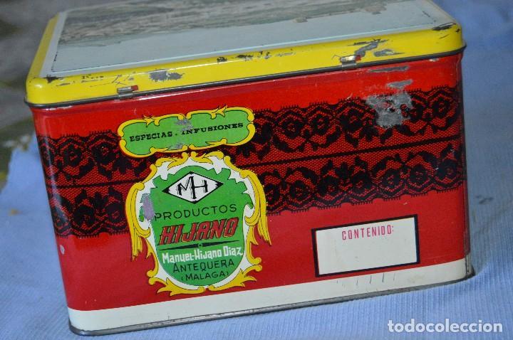 Cajas y cajitas metálicas: Antigua caja / lata hojalata - Productos HIJANO Especias e infusiones - Antequera (MÁLAGA) - Foto 3 - 97232555