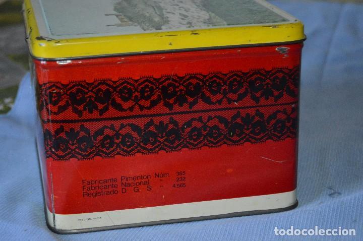 Cajas y cajitas metálicas: Antigua caja / lata hojalata - Productos HIJANO Especias e infusiones - Antequera (MÁLAGA) - Foto 4 - 97232555