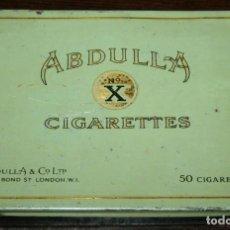 Cajas y cajitas metálicas: CAJA METÁLICA ABDULLA CIGARETTES - 14X10X1.8 CM.. Lote 97720179