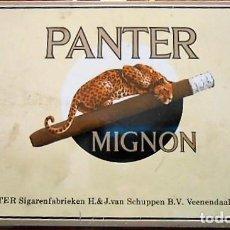 Cajas y cajitas metálicas: CAJA CIGARROS PANTER MIGNON, METALICA.. Lote 97724239