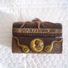 Cajas y cajitas metálicas: COFRE O CAJITA ARTESANAL DE LA REPUBLICA DOMINICANA 1990. Lote 231650940
