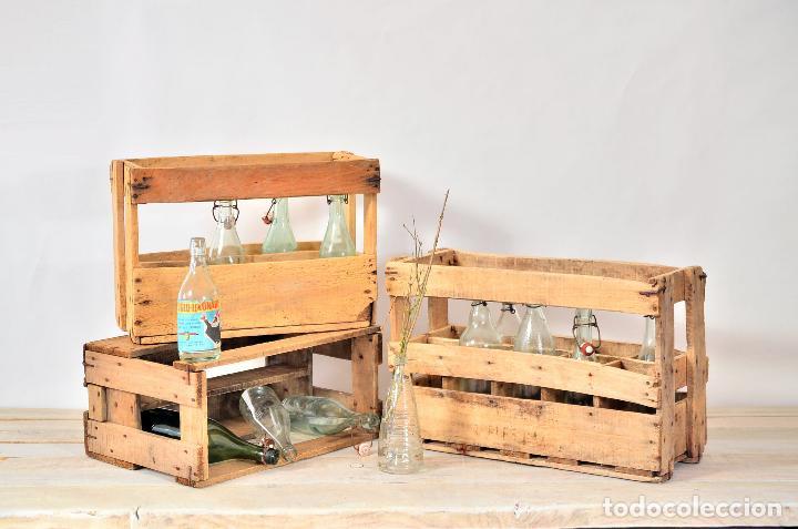 Antigua caja de madera para botellas vino o cer comprar - Comprar maletas antiguas decoracion ...