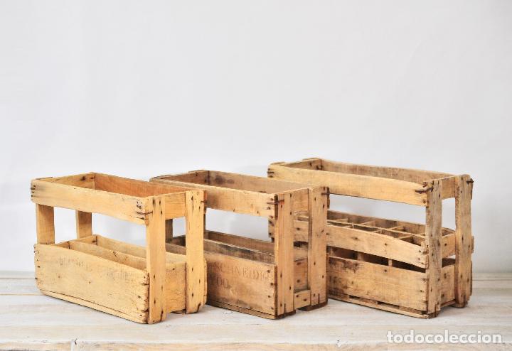 Antigua caja de madera para botellas de vino o comprar - Cajas de madera para botellas ...