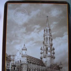 Cajas y cajitas metálicas: CAJA METALICA CORNE PORT ROYAL CHOCOLATERIE BELGE DEPUIS 1932 GRAND PLACE BRUSSELS. Lote 98003975