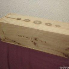 Cajas y cajitas metálicas: CAJA DE MADERA VACIA DE VINOS PALACIOS REMONDO - ALFARO 53 X 18. Lote 98218892