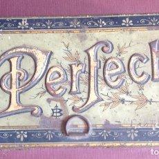 Cajas y cajitas metálicas: CAJA IMPRENTILLA PERFECT. CON LAS LETRAS. 10 X 18,5 X 5,4 CM.VELL I BELL. Lote 98508031