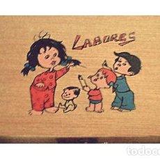 Cajas y cajitas metálicas: CAJA DE LABORES DE NIÑOS. COSTURERO. AÑOS 50-60. Lote 27377005