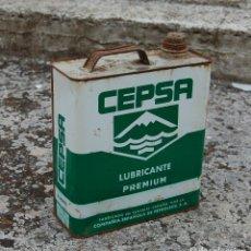 Cajas y cajitas metálicas: LATA DE ACEITE DE COCHE CEPSA 5 LITROS LUBRICANTE. Lote 98587639