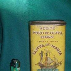 Cajas y cajitas metálicas: LATA - ACEITE DE OLIVA - SANTA MARIA - OIL. Lote 99138715