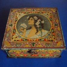 Cajas y cajitas metálicas: (PUB-171033)CAJA CHAPA LITOGRAFIADA, CONFITERIA DE SALINAS, ALCALA DE HENARES. Lote 99503367