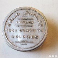Caixas e caixinhas metálicas: PEQUEÑA CAJA DE FARMACIA DE ALUMINIO DE PASTILLAS SELLO JUANSE CONTRA TODA CLASE DE DOLORES. Lote 99921967