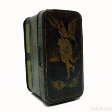 Cajas y cajitas metálicas: ANTIGUA CAJA METAL LITOGRAFIADO PUBLICIDAD RING TRAVELLERS -MADE IN ENGLAND. Lote 100774247