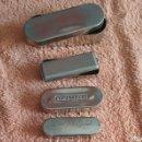 Cajas y cajitas metálicas: 4 CAJITAS METALICAS ANTIGUAS DE BISMUTO PONS Y HIPOFOSFITOS SALUD.. Lote 101127987
