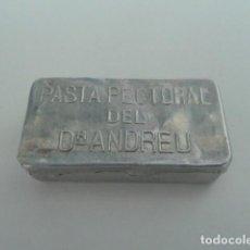 Cajas y cajitas metálicas: CAJITA METALICA PASTA PECTORAL DOCTOR ANDREU. Lote 101296731