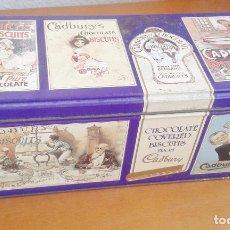 Cajas y cajitas metálicas: CAJA METÁLICA DE GALLETAS CADBURY'S. AÑOS 90. Lote 101472403