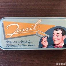 Cajas y cajitas metálicas: CAJA METAL FOSSIL, RETRO. Lote 101561043