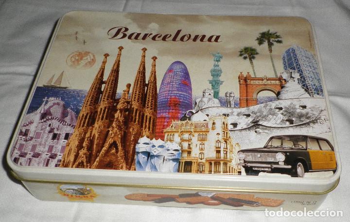 Caja De Galletas Birba Con Dibujos De Barcelona Kaufen Alte
