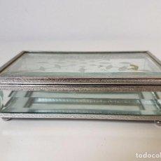 Cajas y cajitas metálicas: CAJITA JOYERO CRISTAL VICELADO. Lote 103412363