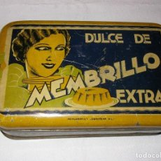 Cajas y cajitas metálicas: CAJA DE CHAPA DE DULCE DE MEMBRILLO EXTRA. 18 X 11,5 X 5 CM.. Lote 103805011