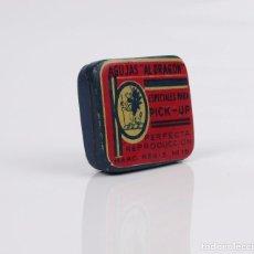Cajas y cajitas metálicas: CAJITA METAL LITOGRAFIADO DE AGUJAS DE GRAMÓFONO -AL DRAGON. Lote 104319719