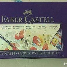 Cajas y cajitas metálicas: CAJA ACUARELAS FABER CASTELL. Lote 104419579