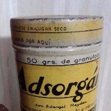 Cajas y cajitas metálicas: ANTIGUA CAJA DE HOJALATA DE MEDICAMENTO ADSORGAN - BARCELONA. Lote 104554167