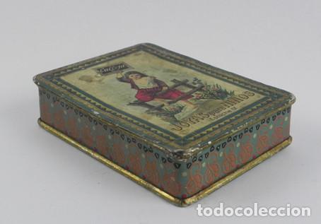 Cajas y cajitas metálicas: Antigua caja de hojalata litografiada de cuentos Saturnino Calleja, Joyas para Niños, estuche IX, mi - Foto 2 - 104863087