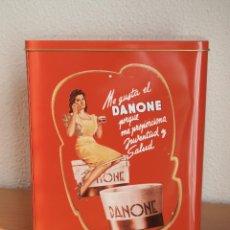 Cajas y cajitas metálicas: LATA DANONE VINTAGE. Lote 105253719