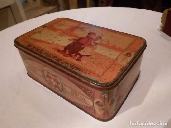 Cajas y cajitas metálicas: Caja Hojalata - Bombones La Suiza - Foto 2 - 105301475