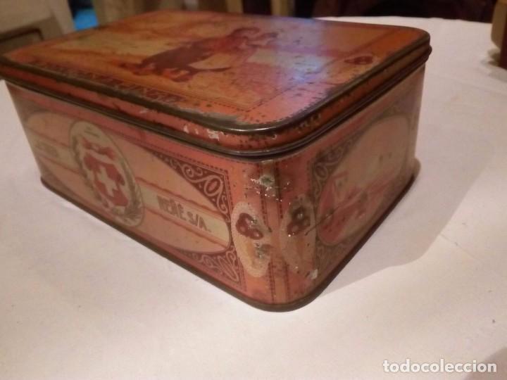 Cajas y cajitas metálicas: Caja Hojalata - Bombones La Suiza - Foto 3 - 105301475