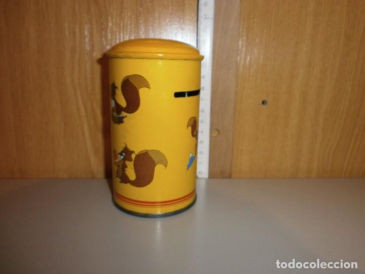 Cajas y cajitas metálicas: hucha caja postal años 70 80 - Foto 2 - 105824547