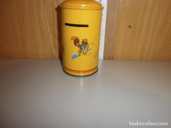 Cajas y cajitas metálicas: hucha caja postal años 70 80 - Foto 3 - 105824547