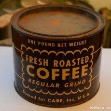 Cajas y cajitas metálicas: ANTIGUA LATA CAJA METAL DE CAFÉ OLD COFFEE CAN USA UNITED STATES OF AMERCIA COFFEE. Lote 106540607