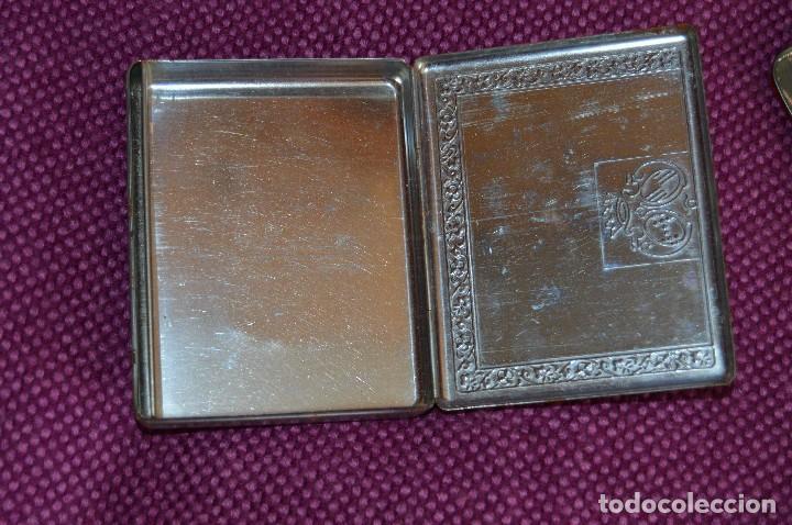 Cajas y cajitas metálicas: VINTAGE - LOTE DOS CAJAS / CAJITAS METÁLICAS ANTIGUAS - ELASTOPLAST Y A LA MARQUISE DE SEVIGNE PARIS - Foto 12 - 193231891