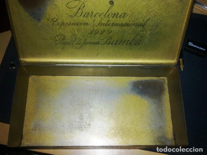 3 CAJAS METALICAS - PAPEL FUMAR BAMBU. (Coleccionismo - Cajas y Cajitas Metálicas)
