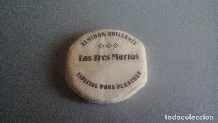 ALMIDON BRILLANTE - LAS TRES MARIAS - ESPECIAL PARA PLANCHAR - SIN USAR, SIN ABRIR (Coleccionismo - Cajas y Cajitas Metálicas)
