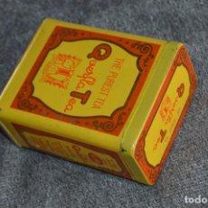 Cajas y cajitas metálicas: ANTIGUA CAJA / CAJITA DE HOJALATA - QUERFLA TEA - THE PUREST TEA - PRECIOSA Y VINTAGE - HAZ OFERTA. Lote 107521835