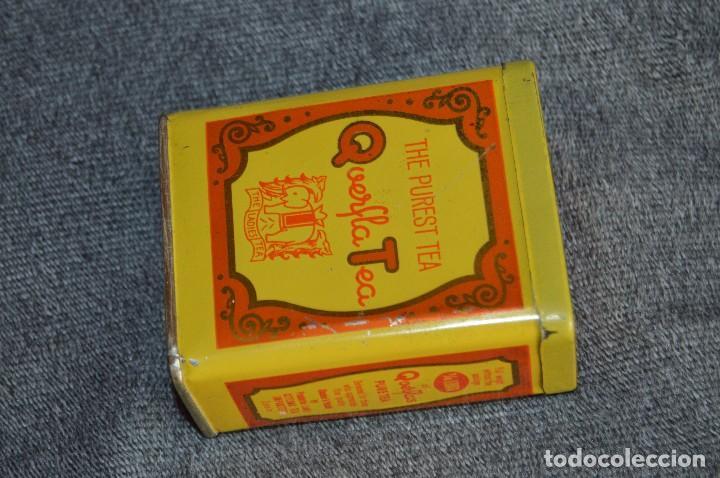 Cajas y cajitas metálicas: ANTIGUA CAJA / CAJITA DE HOJALATA - QUERFLA TEA - THE PUREST TEA - PRECIOSA Y VINTAGE - HAZ OFERTA - Foto 2 - 193231907